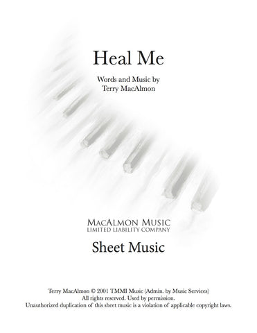 Heal Me-Sheet Music (PDF Download) + Lead Sheet