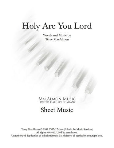 Holy Are You Lord-Sheet Music (PDF Download) + Lead Sheet