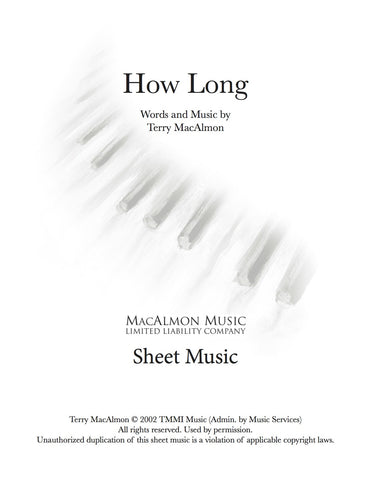 How Long-Sheet Music (PDF Download) + Lead Sheet