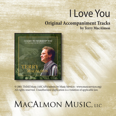 I Love You (Accompaniment Tracks Download)