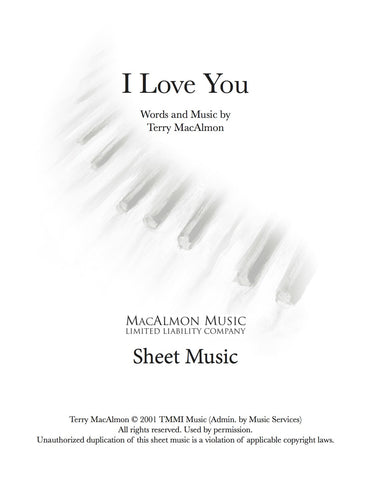 I Love You-Sheet Music (PDF Download) + Lead Sheet