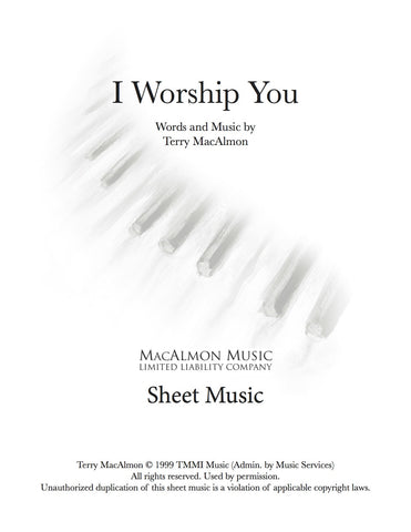 I Worship You-Sheet Music (PDF Download) + Lead Sheet