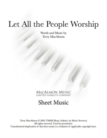 Let All The People Worship-Sheet Music (PDF Download) + Lead Sheet