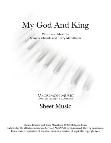 My God and King-Sheet Music (PDF Download) + Lead Sheet