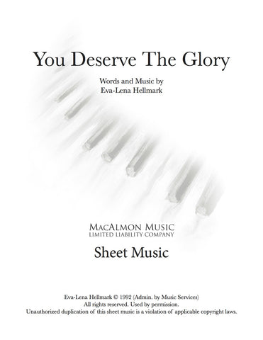 You Deserve The Glory-Sheet Music (PDF Download)