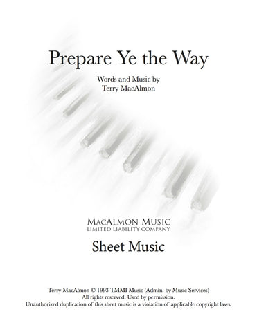Prepare Ye The Way-Sheet Music (PDF Download) +Lead Sheet