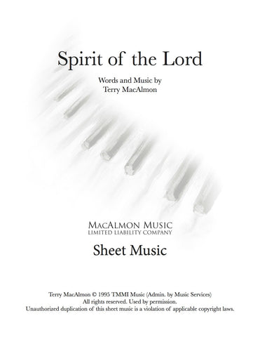 Spirit Of The Lord-Sheet Music (PDF Download) + Lead Sheet