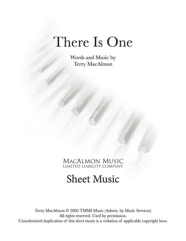 There Is One-Sheet Music (PDF Download) + Lead Sheet