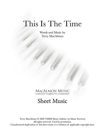This Is The Time-Sheet Music (PDF Download) + Lead Sheet