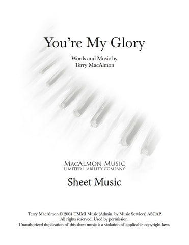 You're My Glory-Sheet Music (PDF Download) + Lead Sheet