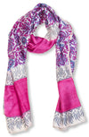Blockprinted Silk Scarf - Pink
