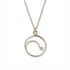 Wave Long Necklace - Silver