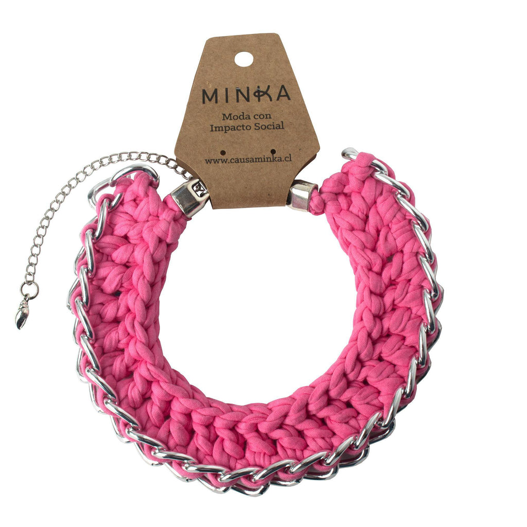 Collar Julieta Rosado