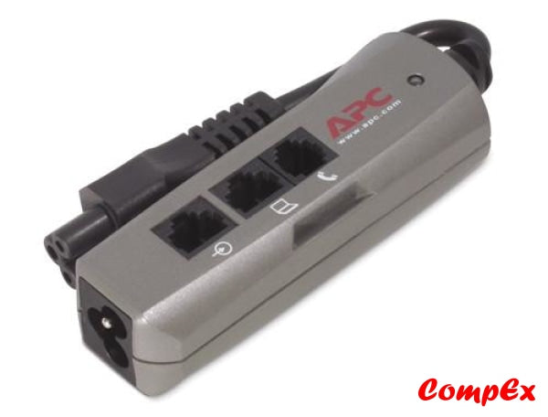 Apc Notebook Surge Protector For Ac Phone And Network Lines 3 Pin Connection 100-240V Emea Arrest