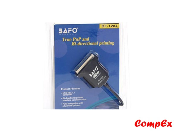Bafo Bf-1284 Usb To Parallel Printer Adapter Convertor