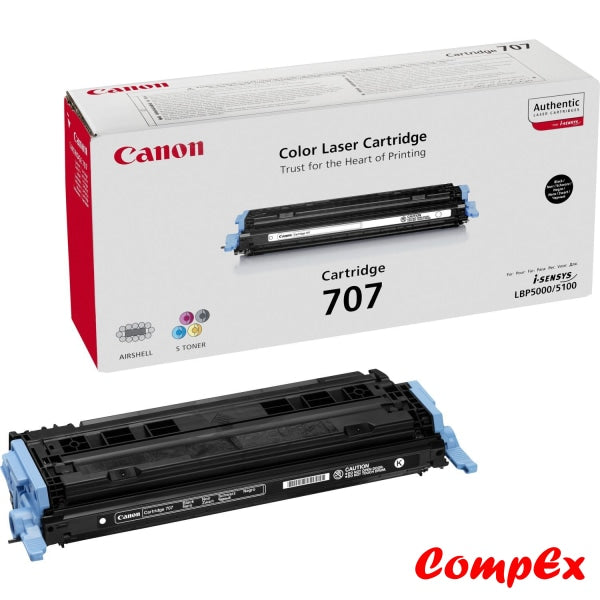 Canon 707 Bk Black Toner Cartridge (#9424A004)