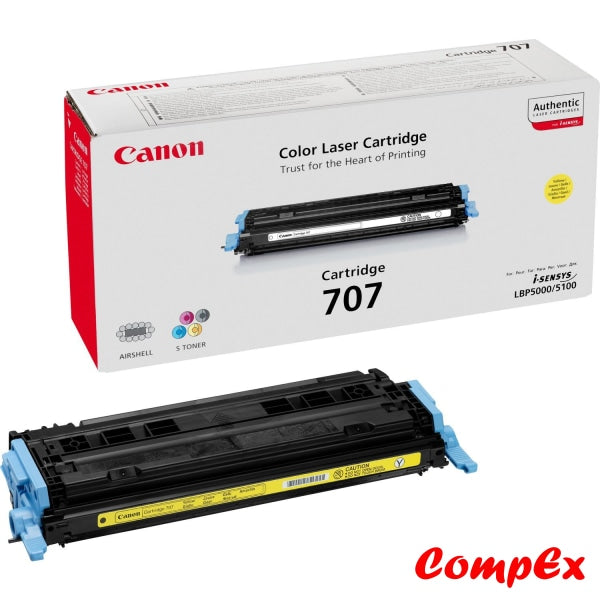 Canon 707Y Yellow Toner Cartridge (#9421A004)