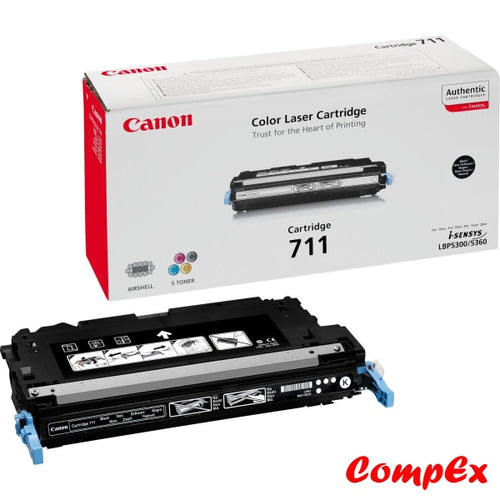 Canon 711Bk Black Toner Cartridge (#1660B002)