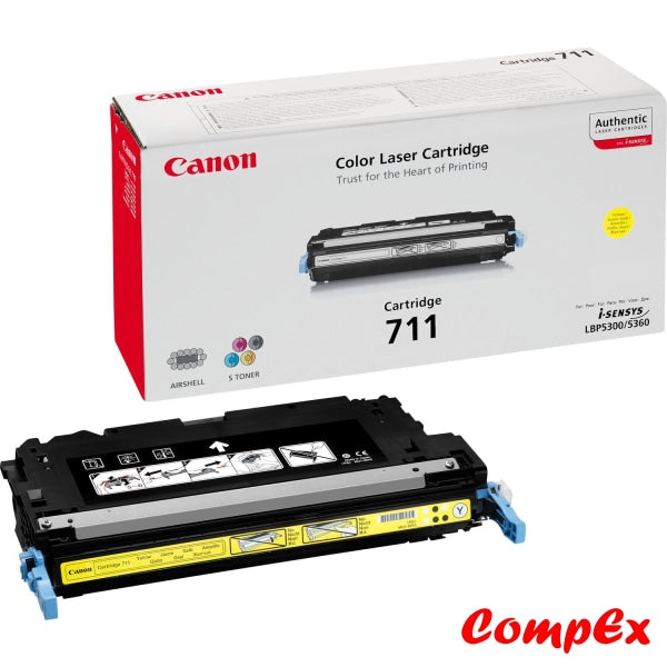 Canon 711Y Yellow Toner Cartridge (#1657B002)
