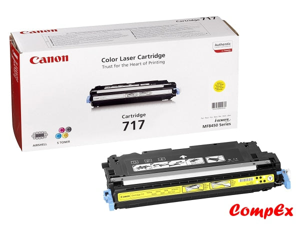 Canon 717Y Yellow Toner Cartridge (2575B002Aa)
