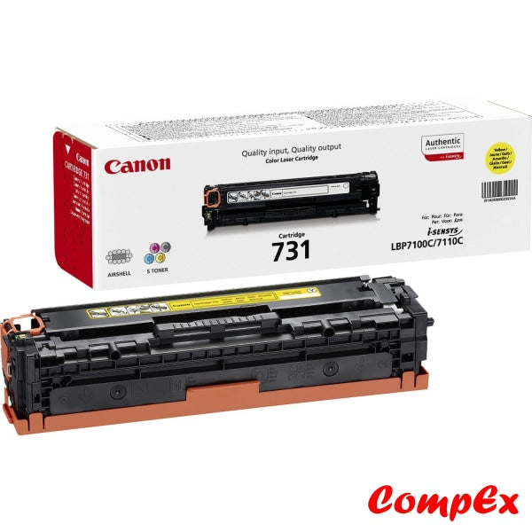 Canon 731Y Yellow Toner Cartridge (#6269B002)
