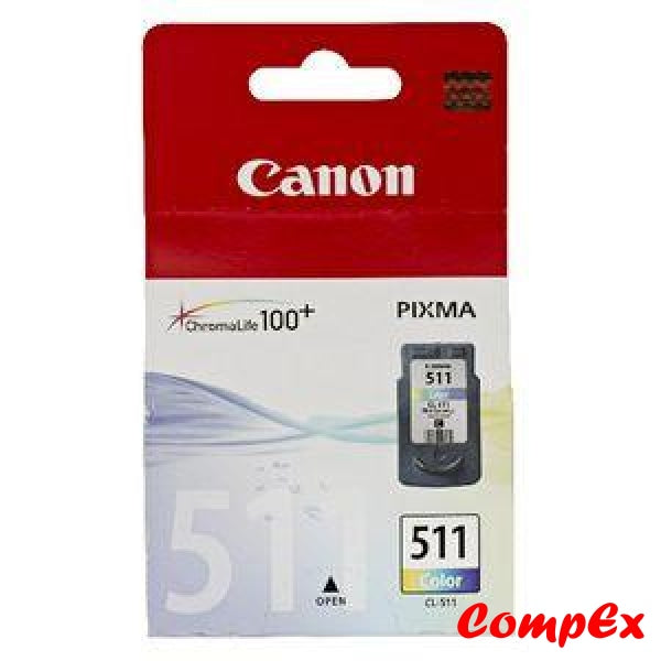 Canon Ink Cartridge Cl-511 Colour (9Ml)