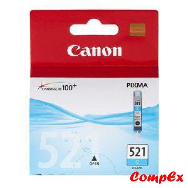 Canon Ink Cartridge Cli-521 Cyan (9Ml)