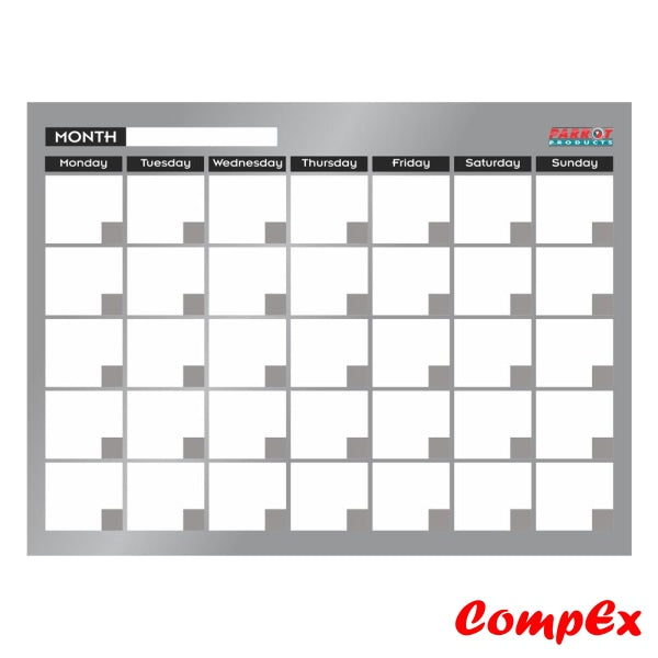 Cast Acrylic Monthly Planner (Cast - 600 X 450Mm) Planners