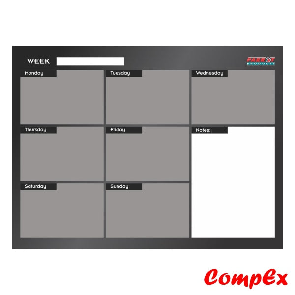 Cast Acrylic Weekly Planner (Cast - 600 X 450Mm) Planners