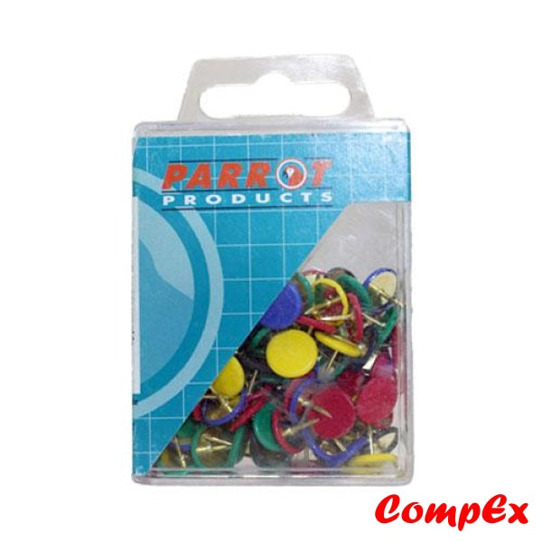 Drawing Pins (Boxed Pack 100 - Assorted) & Push