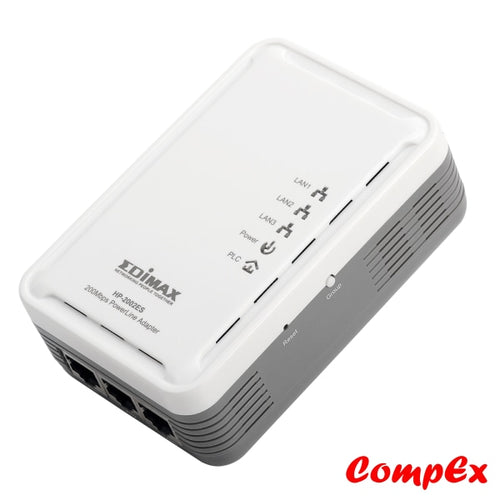 Edimax 200Mbps Powerline Ethernet Adapter With 3 Ports Hp-2002Es Range Extender