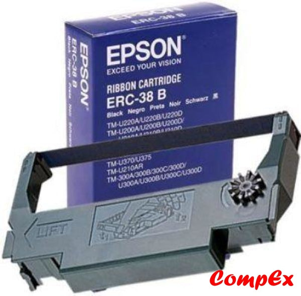 Epson Black Fabric Ribbon Erc-38B
