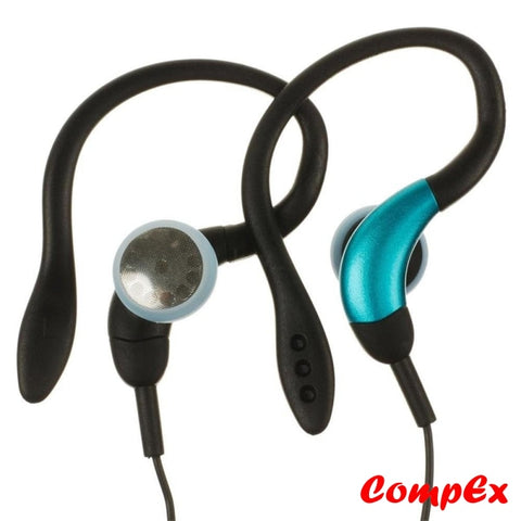Genius Clip-On Sports Headphones With Flexible Earhook Ghp-205X Blue Headphone