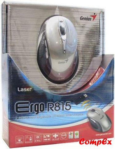 Genius Ergo R815 Wireless Rechargeable Mouse Silver