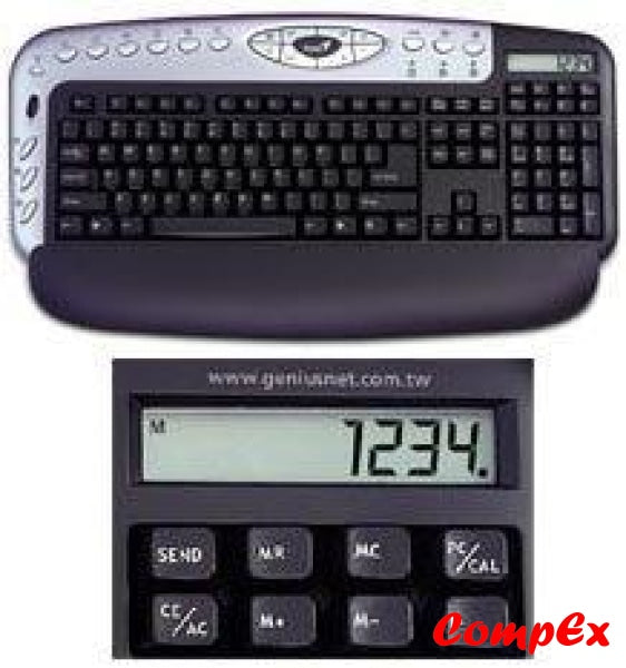 Genius Kb 29E Blue Calculator Keyboard Ps2