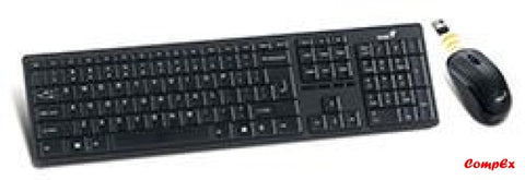 Genius Slimstar 8000Me Slim 2.4Ghz Wireless Keyboard Combo