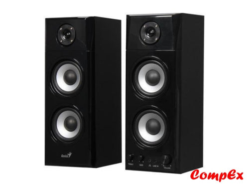 Genius Sp-Hf1800A 50 W 2.0 Three-Way Hi-Fi Wood Speakers