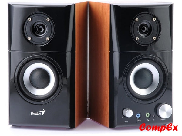 Genius Sp-Hf500A 14-Watt Two-Way Hi-Fi Wood Speakers
