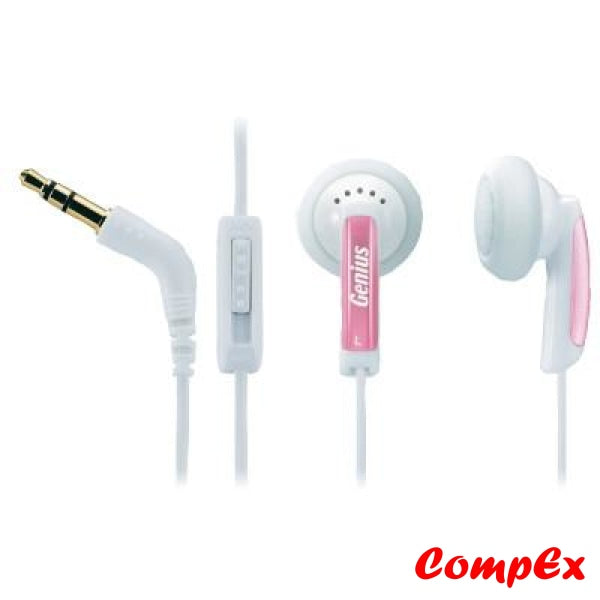 Genius Vivid Earphones Ghp-02V Strawberry Headphone