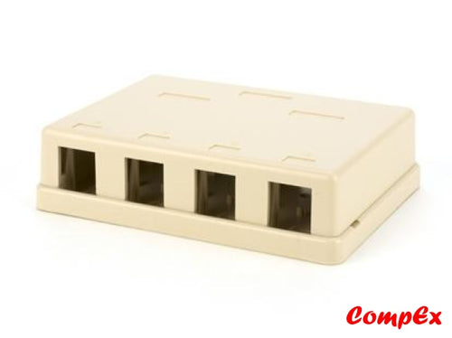 Goldx Four Port Rj45 Surface Mount Box Ivory Rj11 Wallbox
