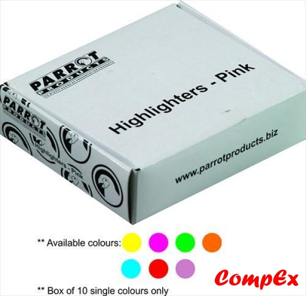 Highlighter Marker Box (10 Markers - Pink) Highlighters