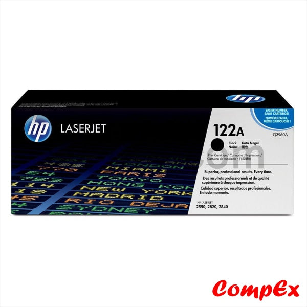 Hp 122A Black Original Laserjet Toner Cartridge (Q3960A)