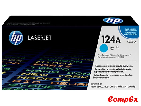 Hp 124A Cyan Original Laserjet Toner Cartridge (Q6001A)