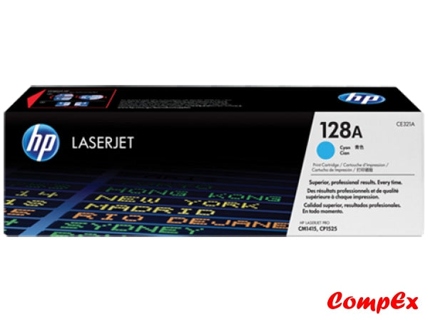 Hp 128A Cyan Original Laserjet Toner Cartridge (Ce321A)