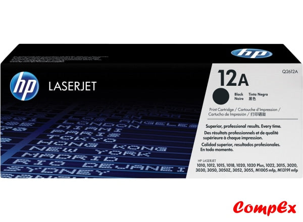 Hp 12A Black Original Laserjet Toner Cartridge (Q2612A)