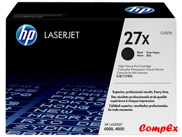 Hp 27X High Yield Black Original Laserjet Toner Cartridge (C4127X)