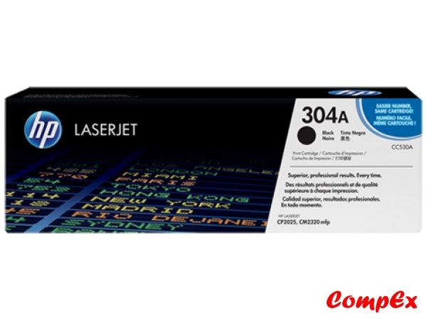 Hp 304A Black Original Laserjet Toner Cartridge (Cc530A)