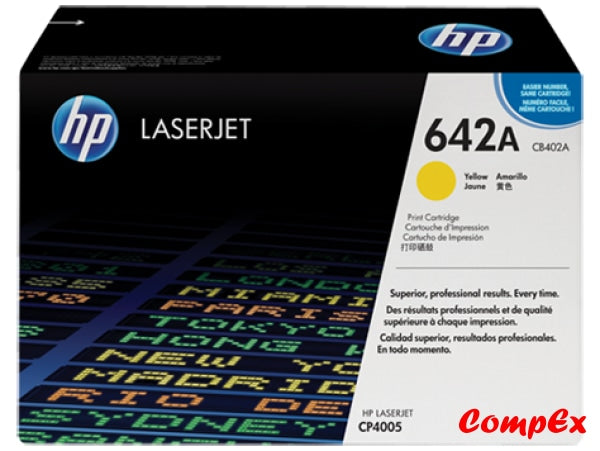 Hp 642A Yellow Original Laserjet Toner Cartridge (Cb402A)