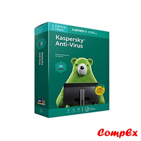 Kaspersky Anti-Virus - 3 Device 1 Year (Cd) Software