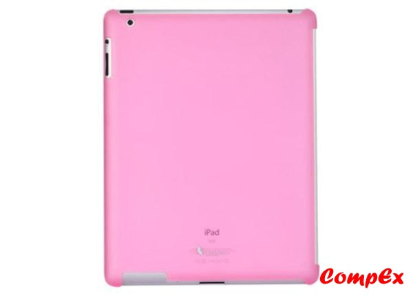 Lafeada Active Shell Ultra Slim Case For Ipad 2 Compatible With Smart Cover Pink Tablet Carry